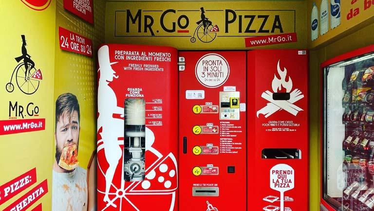 Roma: Mr. Go ha aperto il distributore di pizza automatica | Mag.Ricetta.it